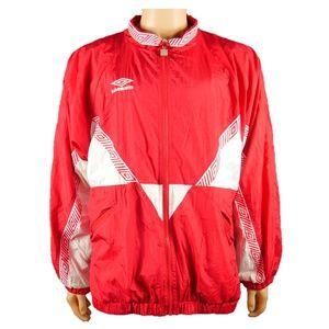 Vtg Umbro Soccer Windbreaker Zip Up Jacket Mens L